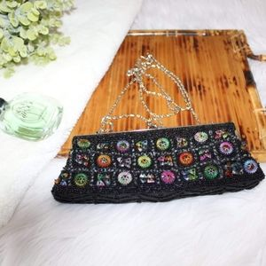 Vintage Ispired Beaded Clutch